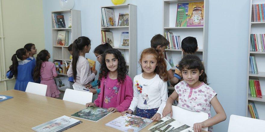 Karslı çocuklar, yeni eğitim öğretim yılı arifesinde kütüphanelerine kavuştu