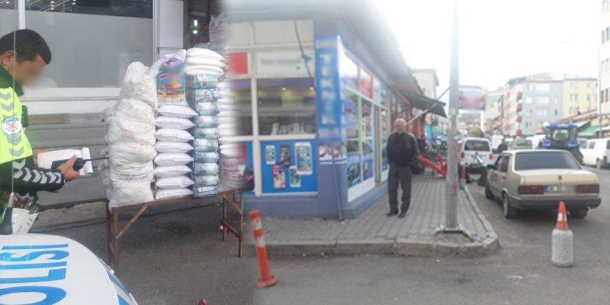 Kars'ta kapısının önüne duba koyana ceza!