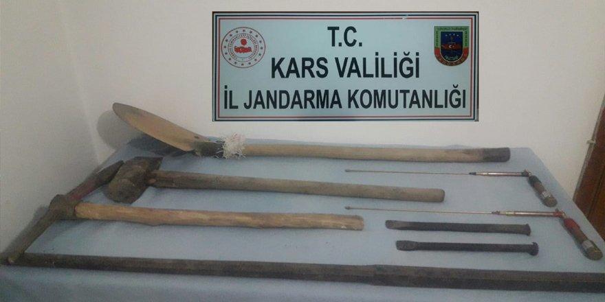 Kars'ta kaçak kazı operasyonu
