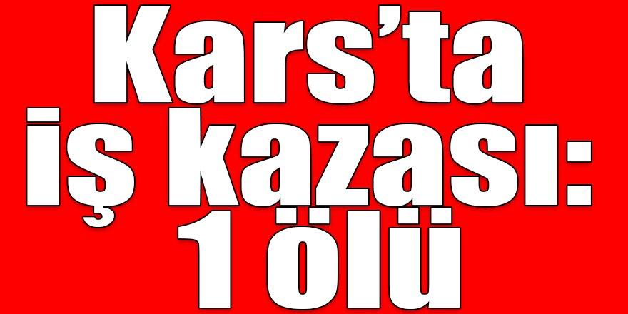 Kars'ta iş kazası: 1 ölü