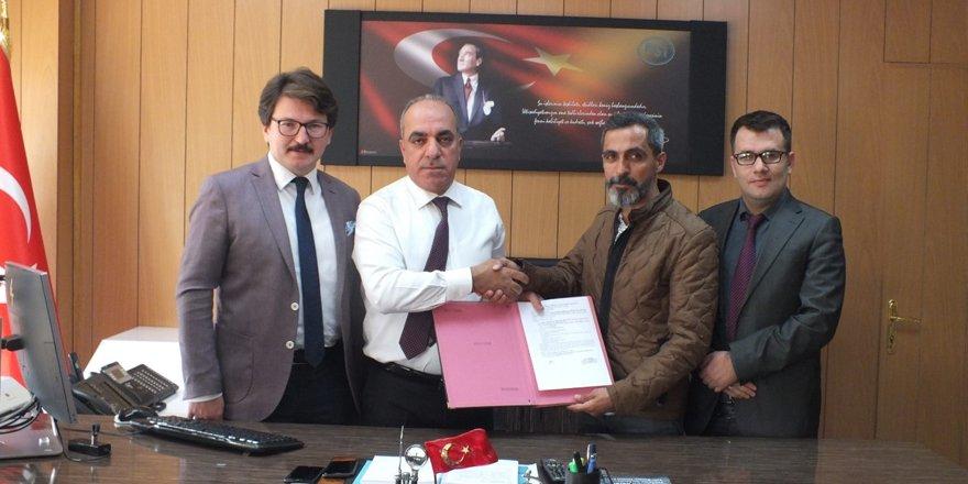 Ortakale Köyü taşkın koruma onarımı işi sözleşmesi imzalandı