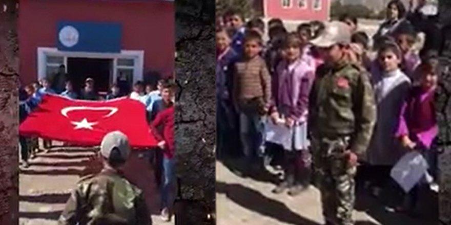 """Selim'de ilköğretim öğrencilerinden """"Komando Marşı"""""""