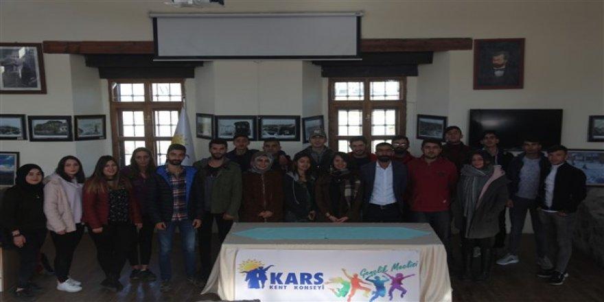 Kars Kent Konseyi Gençlik Meclisi toplandı
