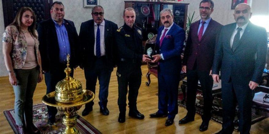 Kars Emniyet Müdürü Yavuz Sağdıç'a ziyaret