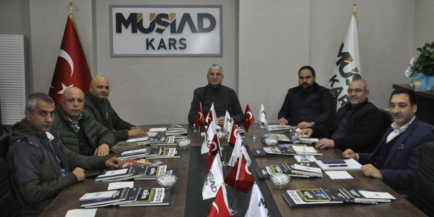 Kars MÜSİAD Yönetim Kurulu toplantısı yapıldı