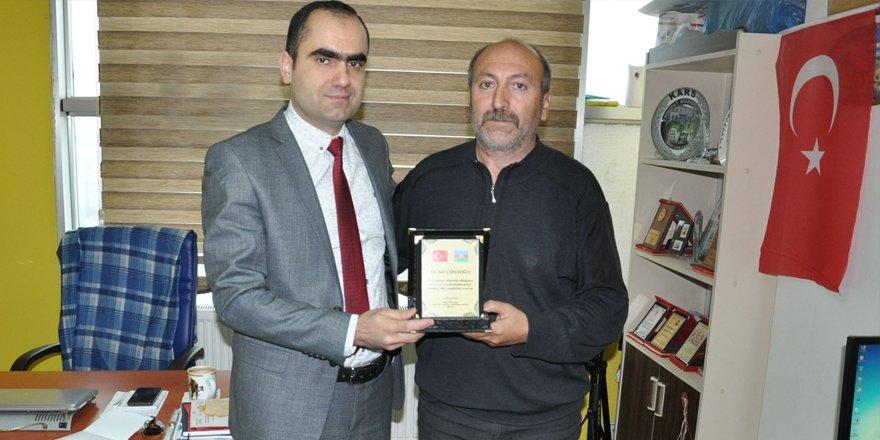 Çağdaş Türk Lehçeleri ve Edebiyatları Bölüm Başkanı Gulusoy'dan İHA'ya ziyaret