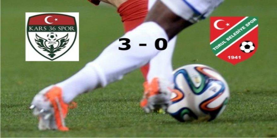 Kars 36 Spor: 3 – Torul Belediyespor: 0
