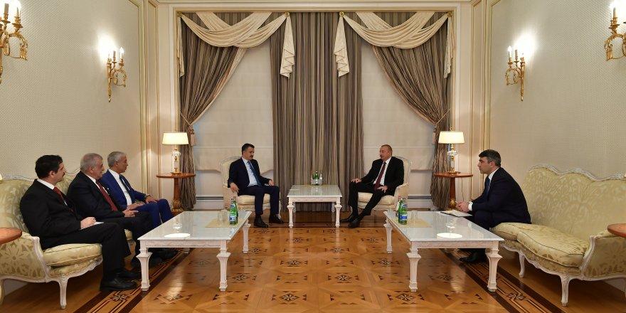 Azerbaycan Cumhurbaşkanı Aliyev, Tarım ve Orman Bakanı Pakdemirli ve Başkan Kılıç'ı Kabul Etti