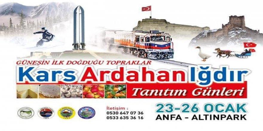 Ankara'da Kars, Ardahan, Iğdır Günleri başlıyor