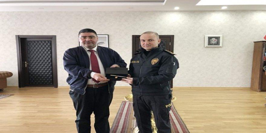 Başkan Ercüment Daşdelen'den Emniyet Müdürü Yavuz Sağdıç'a ziyaret