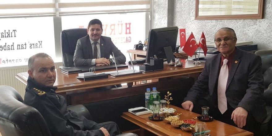 Kars İl Emniyet Müdürü Yavuz Sağdıç, gazetekars.com'u ziyaret etti
