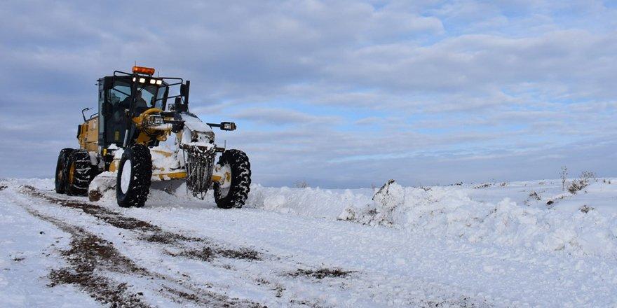 Kars'ta 15 köy yolu ulaşıma kapalı