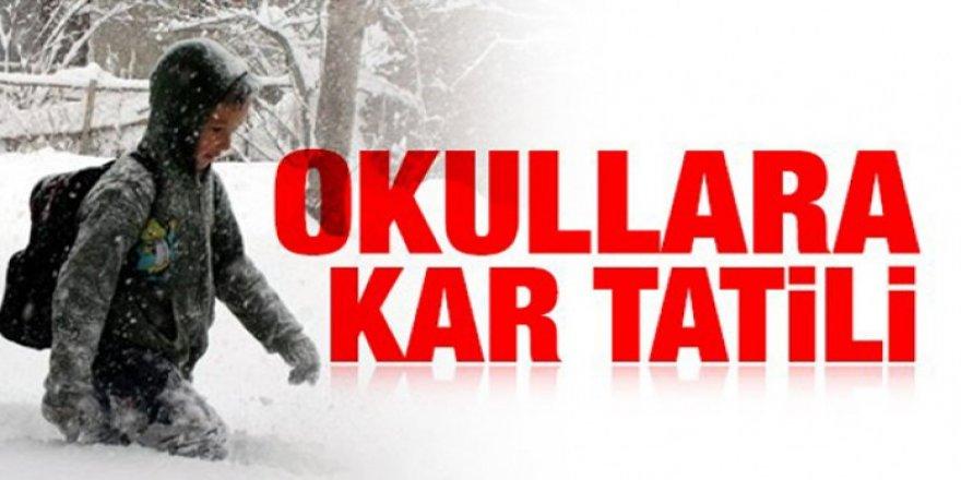 Kars'ta, 14 Şubat Cuma günü okullar tatil edildi