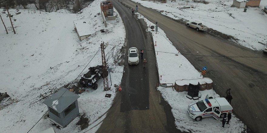 Kars'ta jandarmadan trafik uygulaması!