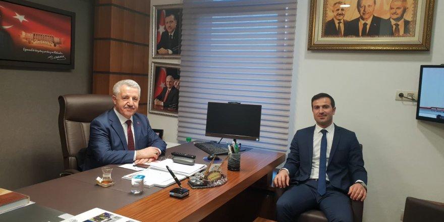 DSİ Kars 24.Bölge Müdürü Yaroğlu'ndan Milletvekili Arslan'a ziyaret