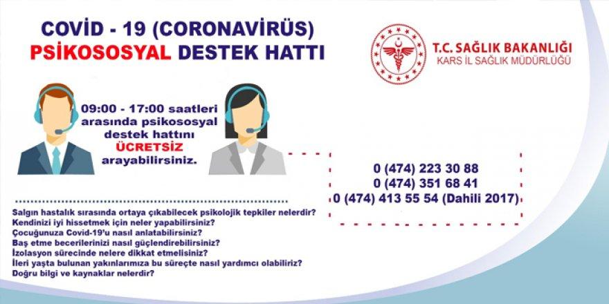 Kars'ta psikososyal destek hattı hizmette!