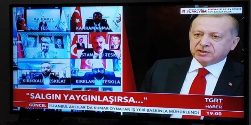 Cumhurbaşkanı Erdoğan video konferans ile AK Parti il başkanlarına seslendi