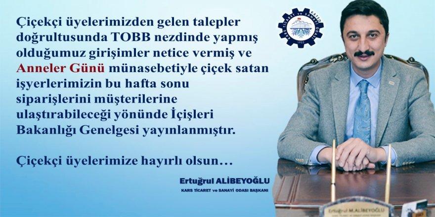 Ticaret Odası Başkanı Ertuğrul Alibeyoğlu'ndan çiçekçi esnafına müjde...