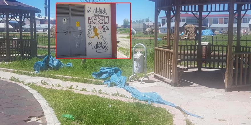 Selim'de park ve bahçelere çirkin saldırı