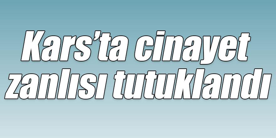 Kars'ta cinayet zanlısı tutuklandı