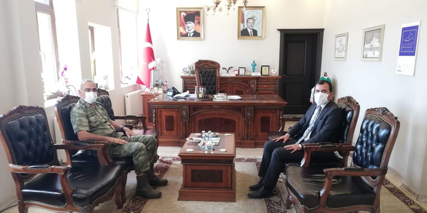 Tümgeneral Uzun Kaymakam Koşal'ı ziyaret etti