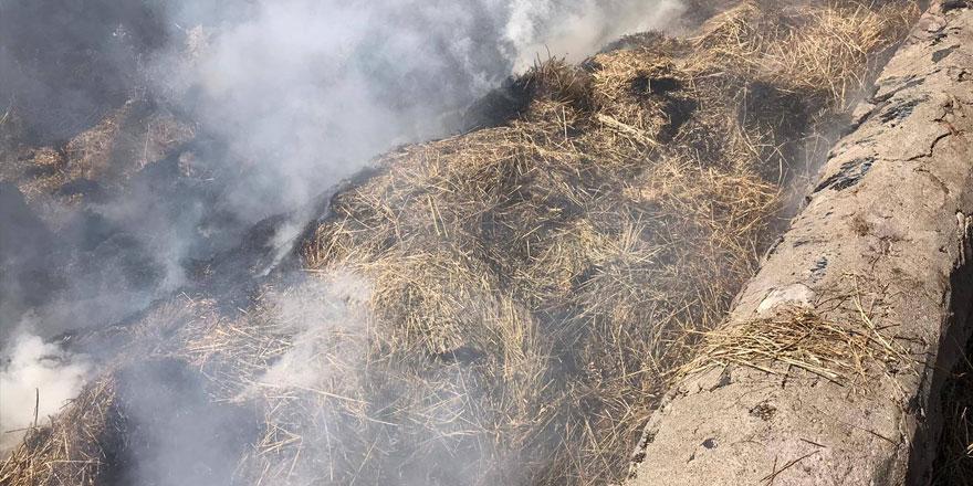 Sarıkamış'ta ot yangını
