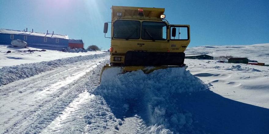 Kars'ta 23 köy yolu ulaşıma kapalı