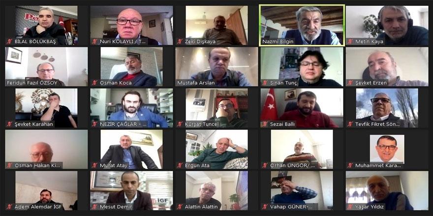 TGK 22. Başkanlar Kurulu video konferansta buluştu