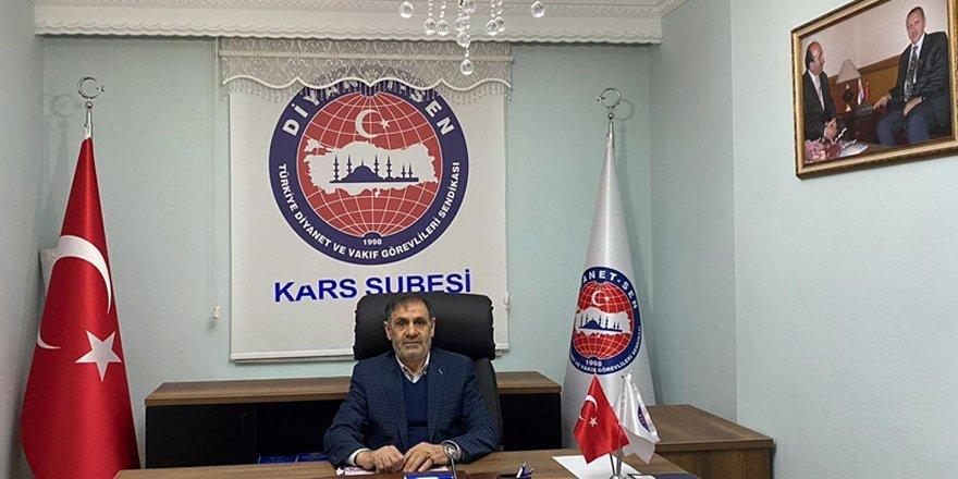 Diyanet-Sen Kars Şube Başkanı Ebubekir Keleş'ten Diyanet'in kuruluş mesajı