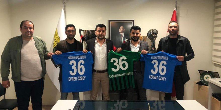 Kağızman Gençlerbirliği Spor yönetiminden Akhisarspor'a ziyaret