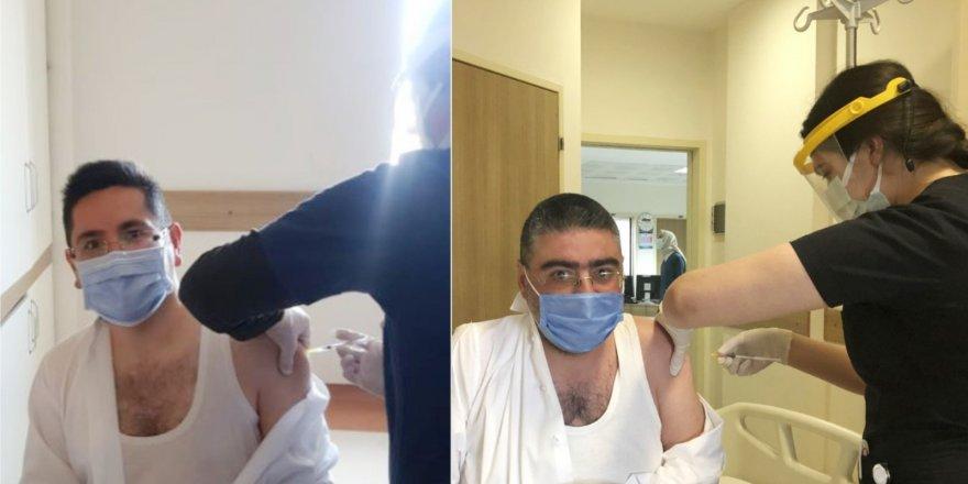 Kars'ta, Cumhurbaşkanlığı Basın Kartı olan Gazeteciler aşı olmaya başladı