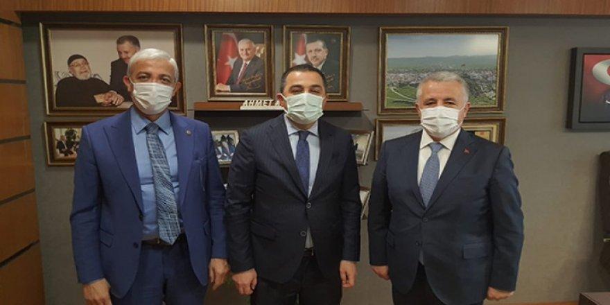 Vali Türker Öksüz, Milletvekilleri Arslan ve Kılıç'ı ziyaret etti