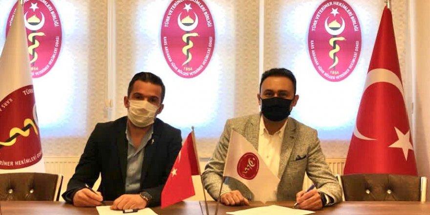 Kars, Ardahan, Iğdır Veteriner Hekimleri Odası ile Denizbank A.Ş. arasında işbirliği protokolü imzalandı
