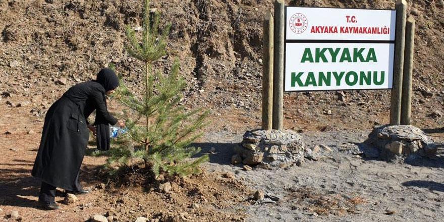Akyaka Kanyonuna kadın eli değdi