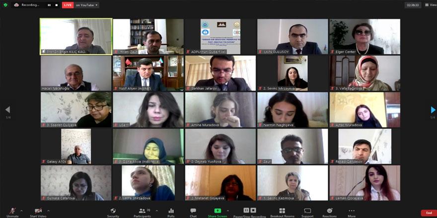 KAÜ'de, uluslar arası online sempozyum düzenlendi