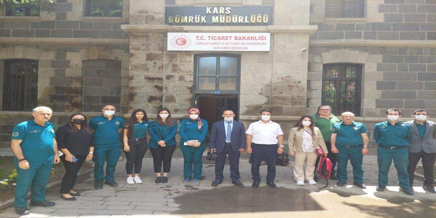 """Kars Gümrük Müdürlüğü çalışanlarına """"Afet Farkındalık Eğitimi"""" verildi"""