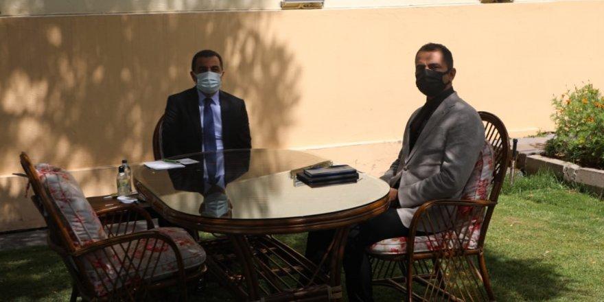 Vali Öksüz, İller Bankası Bölge Müdürü ile Görüştü