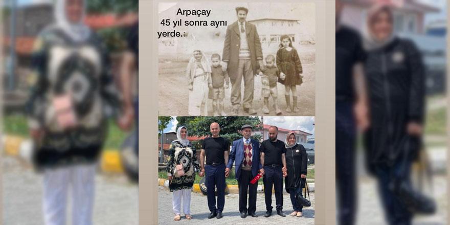 45 yıl sonra aynı yerde aynı fotoğraf karesi