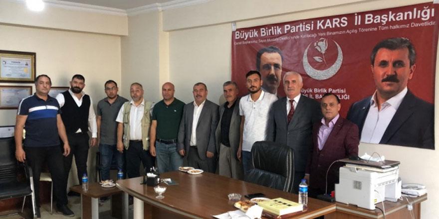 BBP Kars İl Başkanı Muhammet Karahal : 14 Eylül'de Kars halkını açılışa davet etti