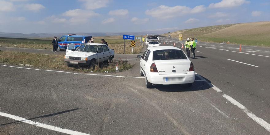 Kavşakta trafik kazası!