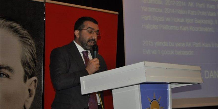 AK Parti Kars İl Başkanı Adem Çalkın'ın konuşması Genişletilmiş Kars İl Danışma Meclisi toplantısına damga vurdu