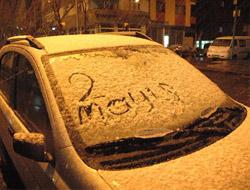 Kars'a 2 Mayıs karı yağdı