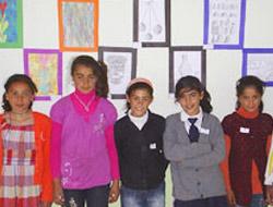 Köy öğrencilerinden sergi