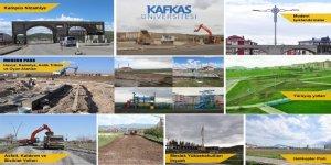 Kafkas Üniversitesi Kampüsü Güzelleşiyor ve Altyapı Çalışmaları Tüm Hızıyla Devam Ediyor