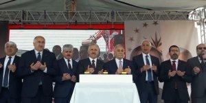 Bakan Arslan ve Bakan Fakıbaba, Kars TDİ Besi OSB'nin temelini attı