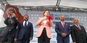 İYİ Parti Genel Başkanı ve Cumhurbaşkanı adayı Meral Akşener, Kars'ta