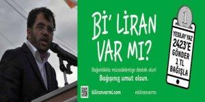 """Özabay, """"Bi' liran var mı?"""" kampanasına destek istedi"""