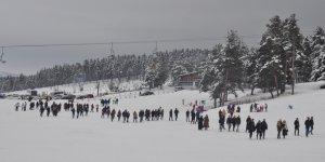 Sarıkamış'ta kar kalınlığı 79 santimetre