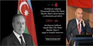 Başkonsolos Nuru Guliyev, Haydar Aliyev'i andı