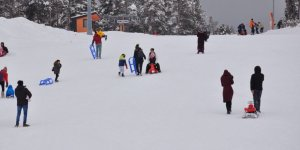 Sarıkamış'ta kayak keyfi